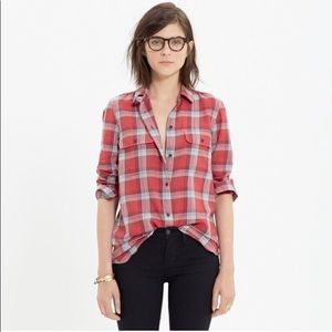 Madewell plaid button up shirt excellent condition